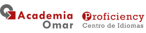 Logo Proficiency centro de idiomas academia omar